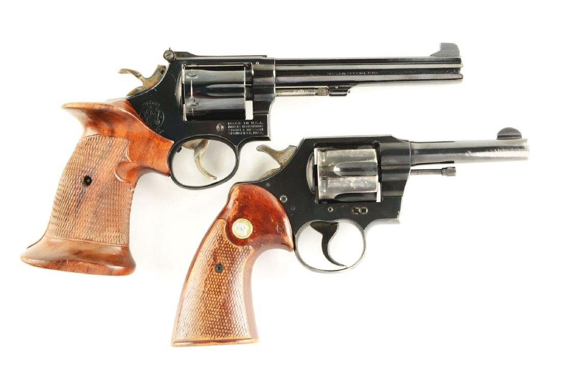 (M) Lot of 2: Colt & S&W Revolvers.