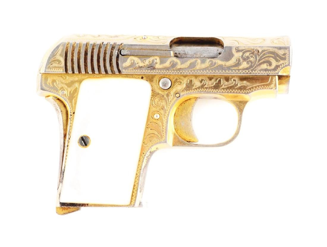 (C) Engraved Gold Plated Bronco Model 1918