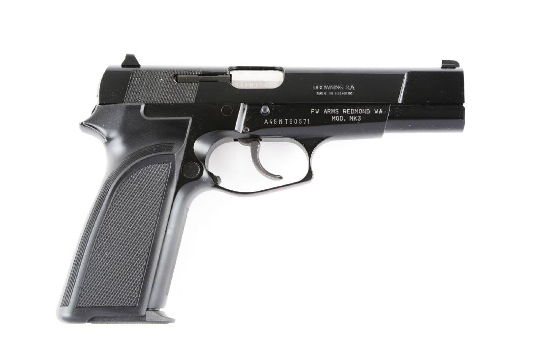 (M) MIB Browning BDAO Hi-Power Semi-Automatic Pistol.