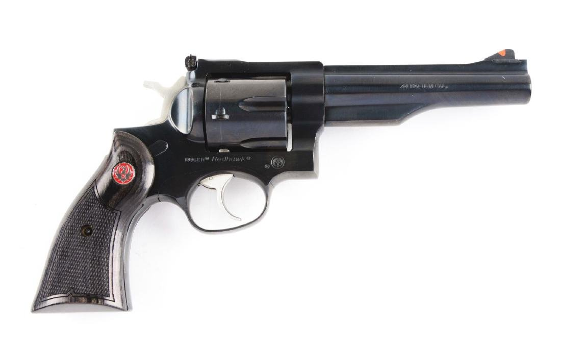 (M) Blue Ruger Redhawk Revolver.