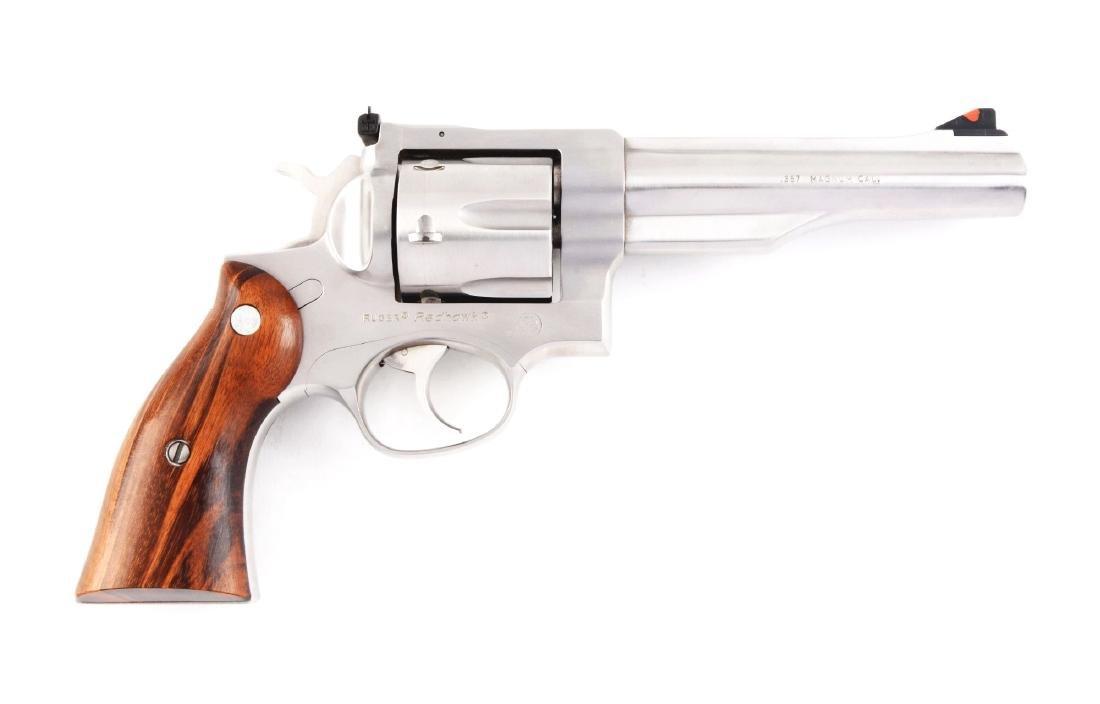 (M) Nickel Ruger Redhawk Revolver.