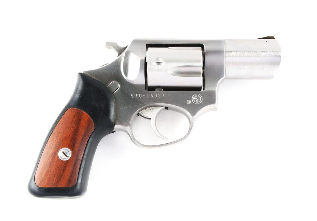 (M) Boxed Ruger SP101 Stainless Double Action Revolver.