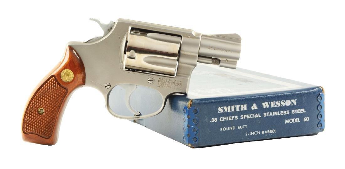 (M) Boxed S&W Two Tone Model 60 Revolver.