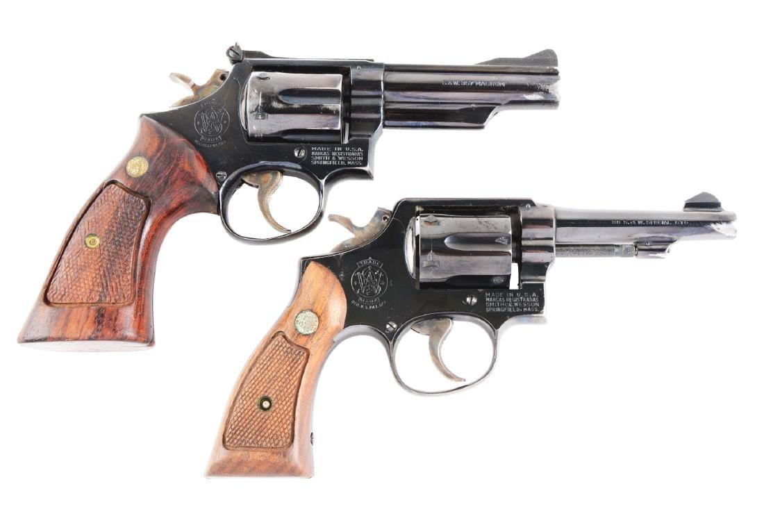 (C) Lot of 2: S&W Model 19-3 & Model 10-5 Double Action