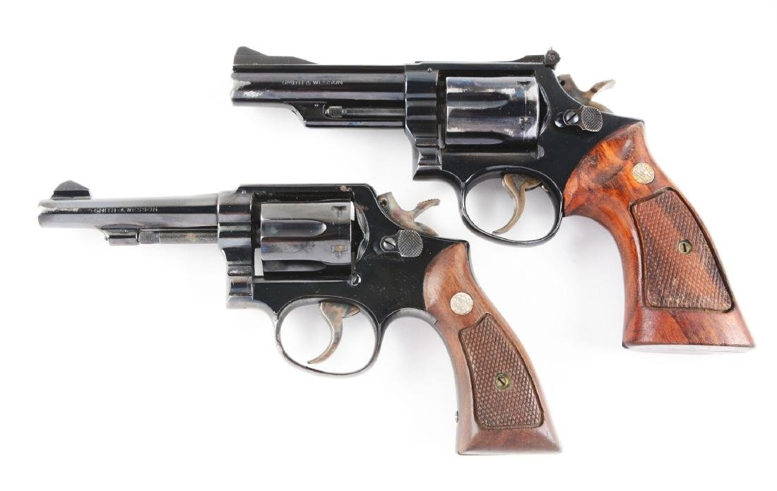 (C) Lot of 2: S&W Model 19-3 & Model 10-5 Double Action - 2
