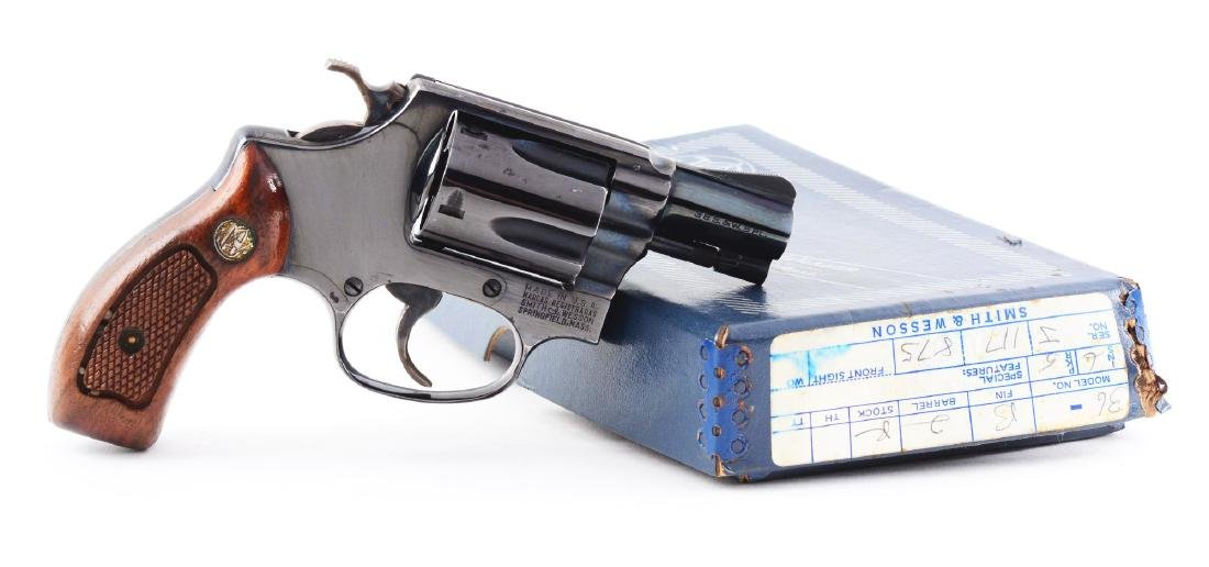 (M) Boxed S&W Model 36 Double Action Revolver.