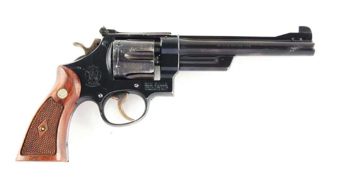 (C) S&W .44 Model of 1950 Target Revolver.