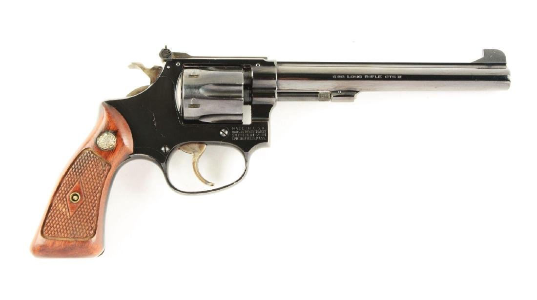 (C) S&W Model 35 .22-32 Bekeart Model Revolver.