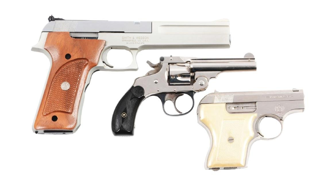 (M) Lot of 3:  Smith and Wesson Firearms.
