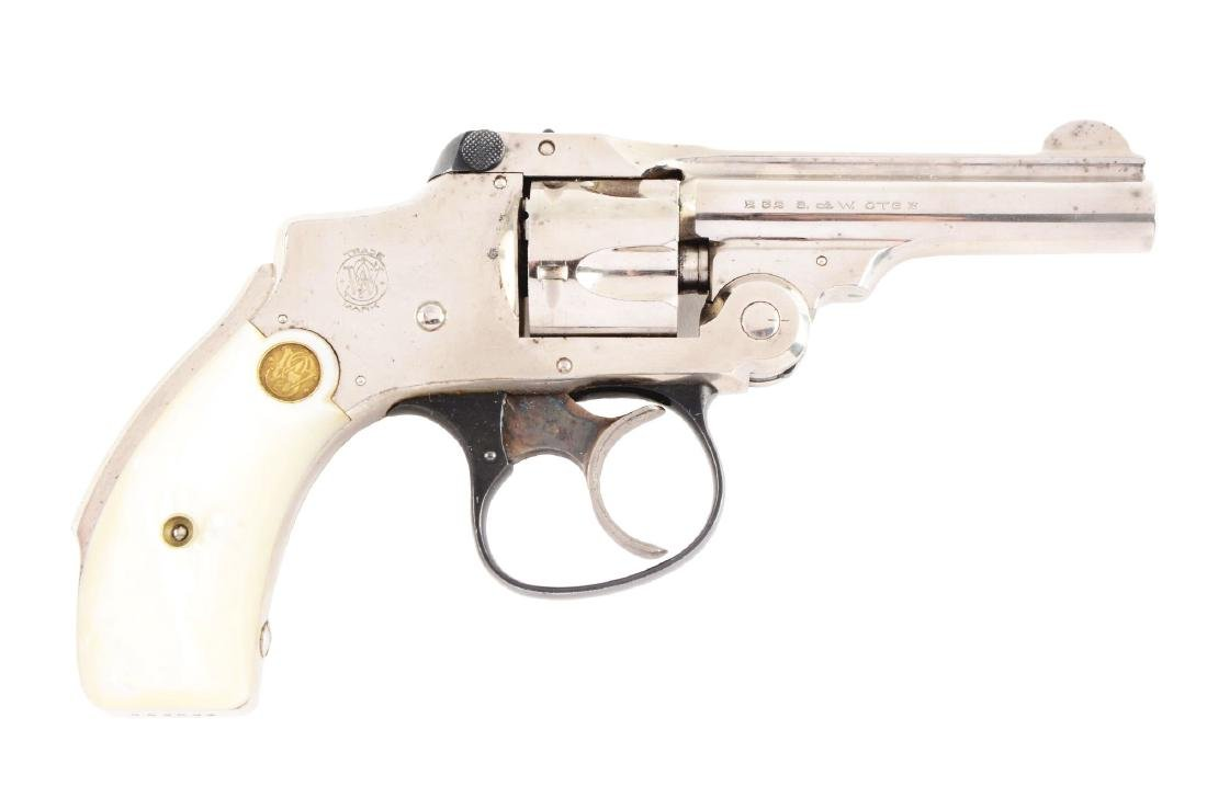 (C) High Condition S&W Safety Hammerless Revolver -