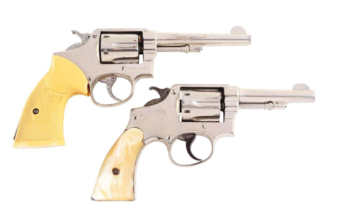 (C) Lot of 2: Smith & Wesson Double Action Revolvers.