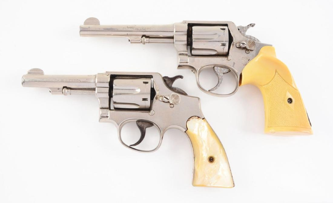 (C) Lot of 2: Smith & Wesson Double Action Revolvers. - 2