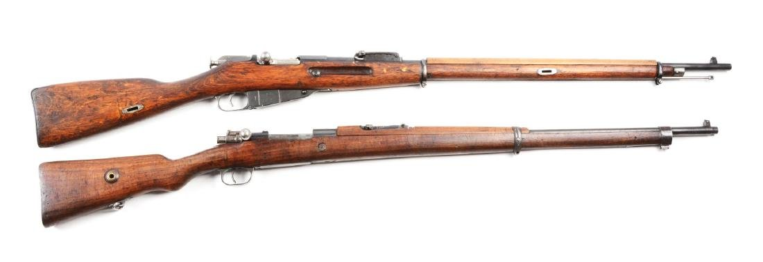 (C) Lot of Two Military Bolt Action Rifles.