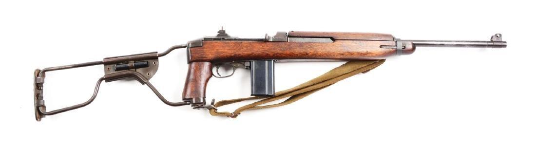 (C) Inland M1 Paratrooper Carbine.