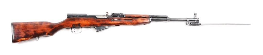 (C) Russian SKS Semi-Automatic Rifle.