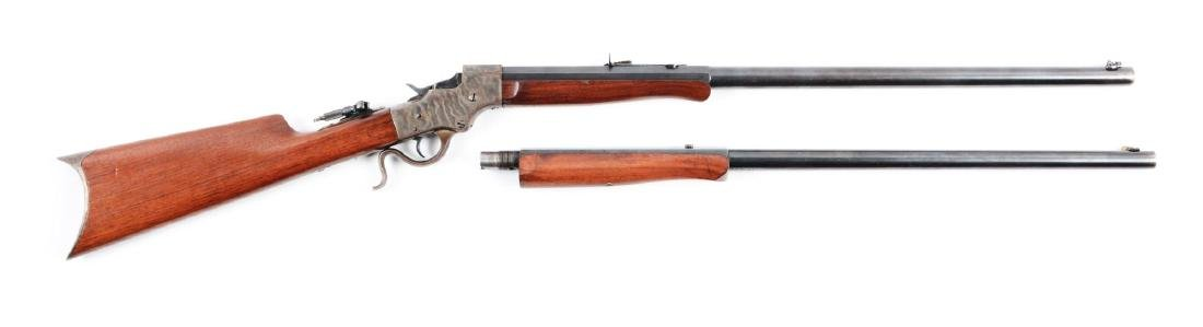 (C) Cased Stevens Model 44 Rifle 2 Barrel Set.