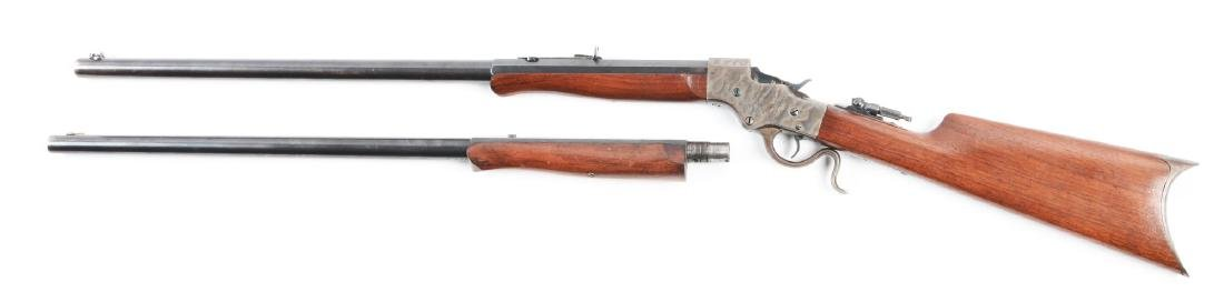 (C) Cased Stevens Model 44 Rifle 2 Barrel Set. - 2