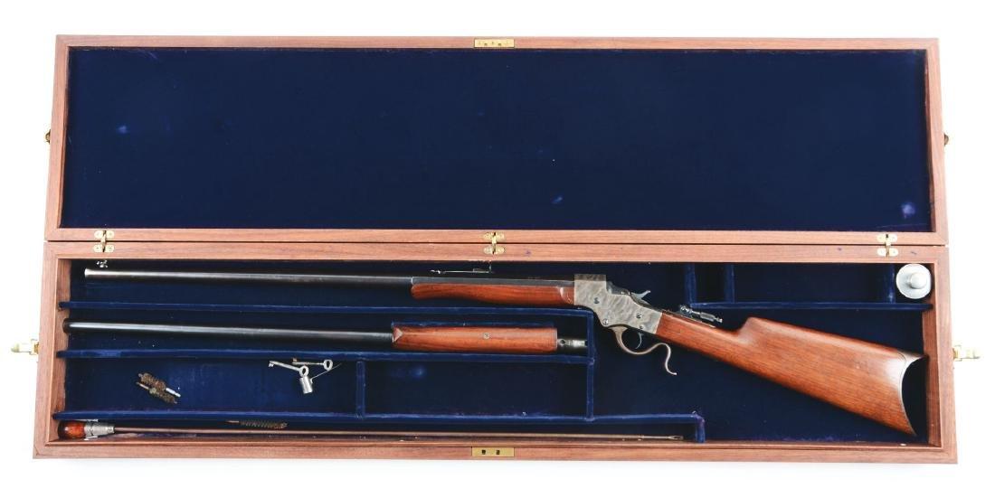 (C) Cased Stevens Model 44 Rifle 2 Barrel Set. - 5