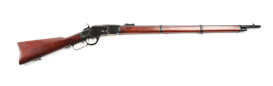 (C) Winchester Model 1873 Lever Action Musket.