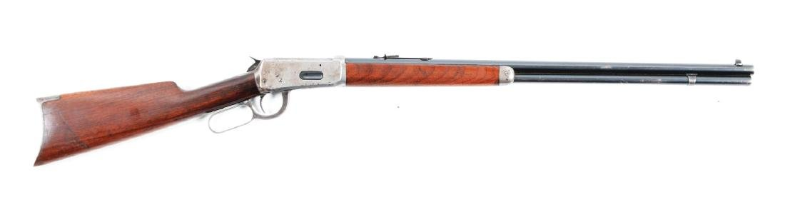 (C) Winchester Model 1894 .25-35 Lever Action Rifle.