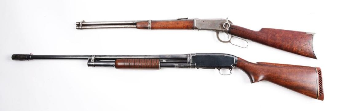 (C^) Lot of 2: Winchester Model 1894 SRC and Model 12 - 2