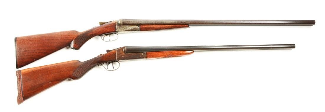 (C) Lot of 2: Side by Side Box Lock Shotguns.