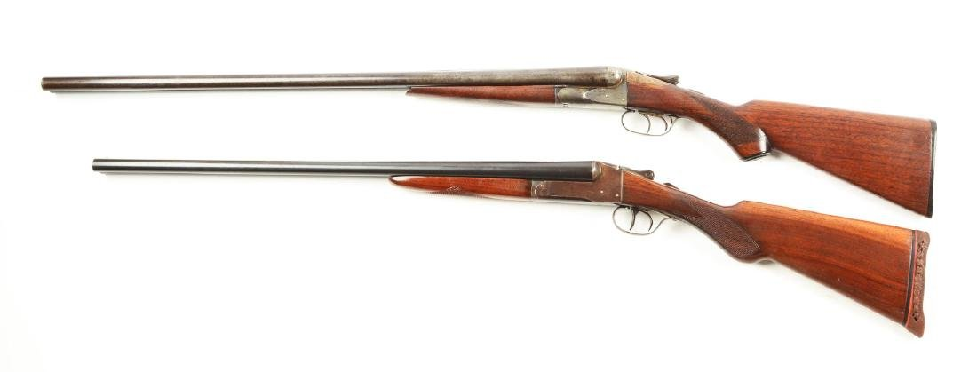 (C) Lot of 2: Side by Side Box Lock Shotguns. - 2