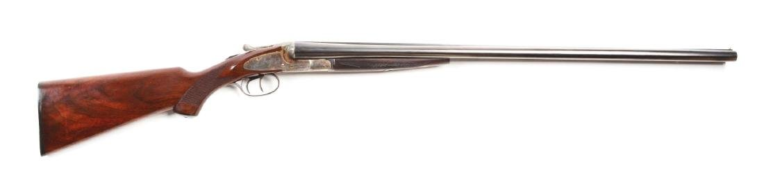 (C) L.C. Smith Ideal Grade Side Lock Shotgun.