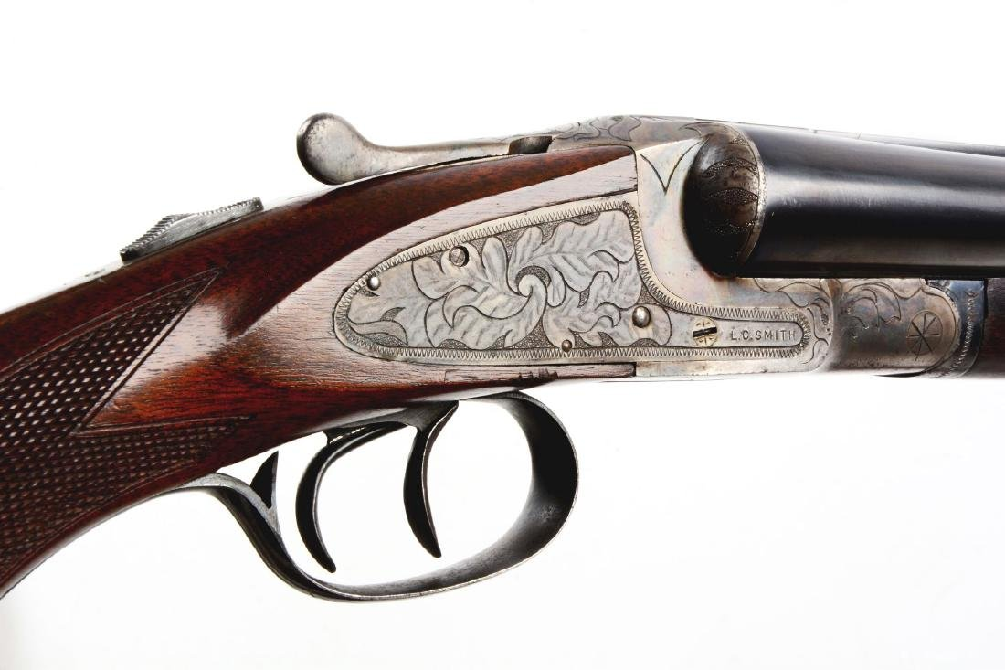 (C) L.C. Smith Ideal Grade Side Lock Shotgun. - 6