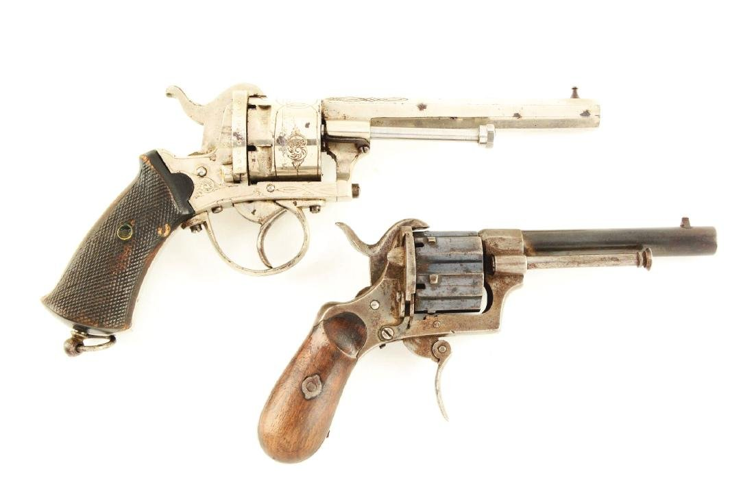 (A) Lot of 2: Lefaucheux Pinfire Revolvers.