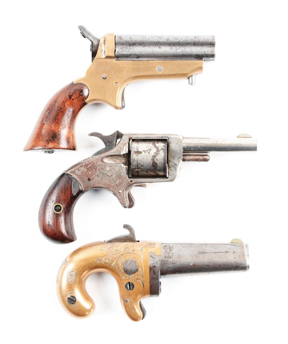 (A) Lot of Three Antique Handguns.