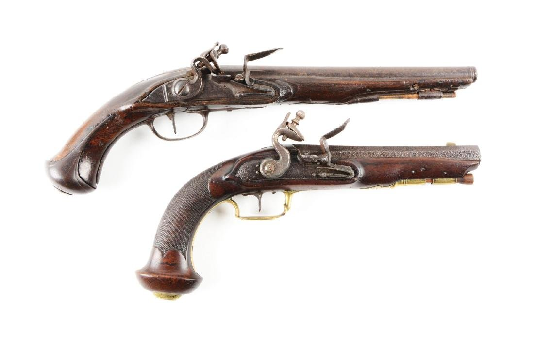 (A) Lot of 2: French Flintlock Pistols.