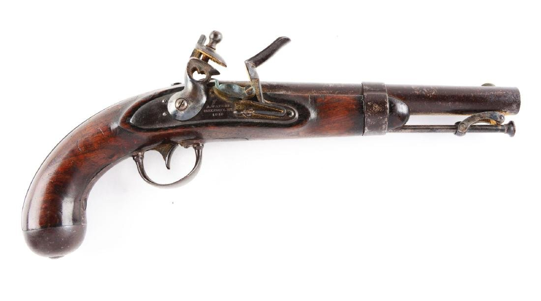 (A) U.S. Model 1836 Single Shot Flintlock Martial