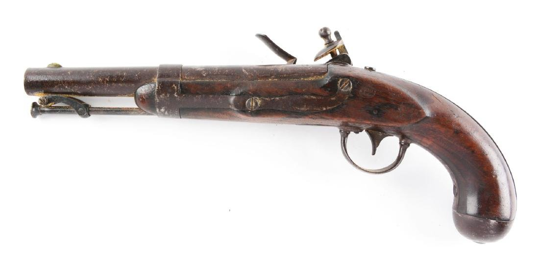 (A) U.S. Model 1836 Single Shot Flintlock Martial - 2