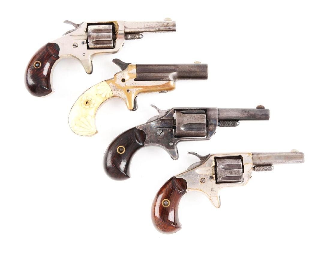 (A) Lot of 4: Colt Revolvers & Deringer.
