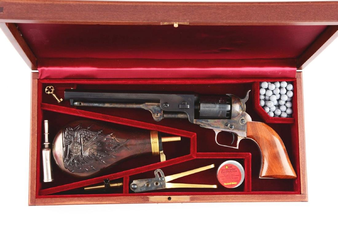 (A) Cased & Boxed Colt 2nd Generation 1851 Navy