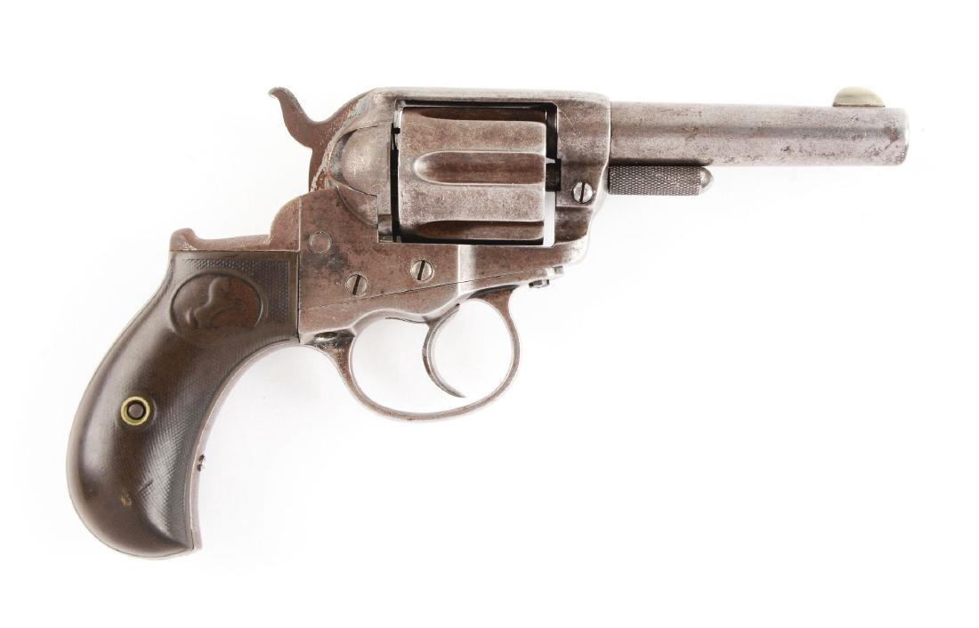 "(A) Colt Model 1877 ""Lightning"" Double Action Revolver."