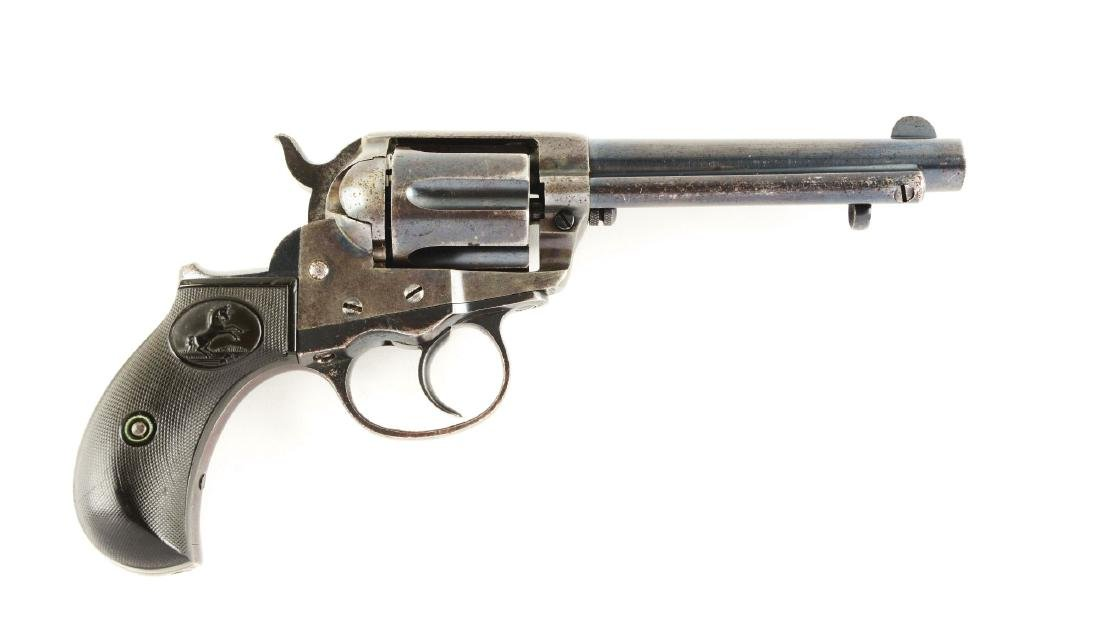 (A) Colt Model 1877 Double Action (Thunderer) Revolver.