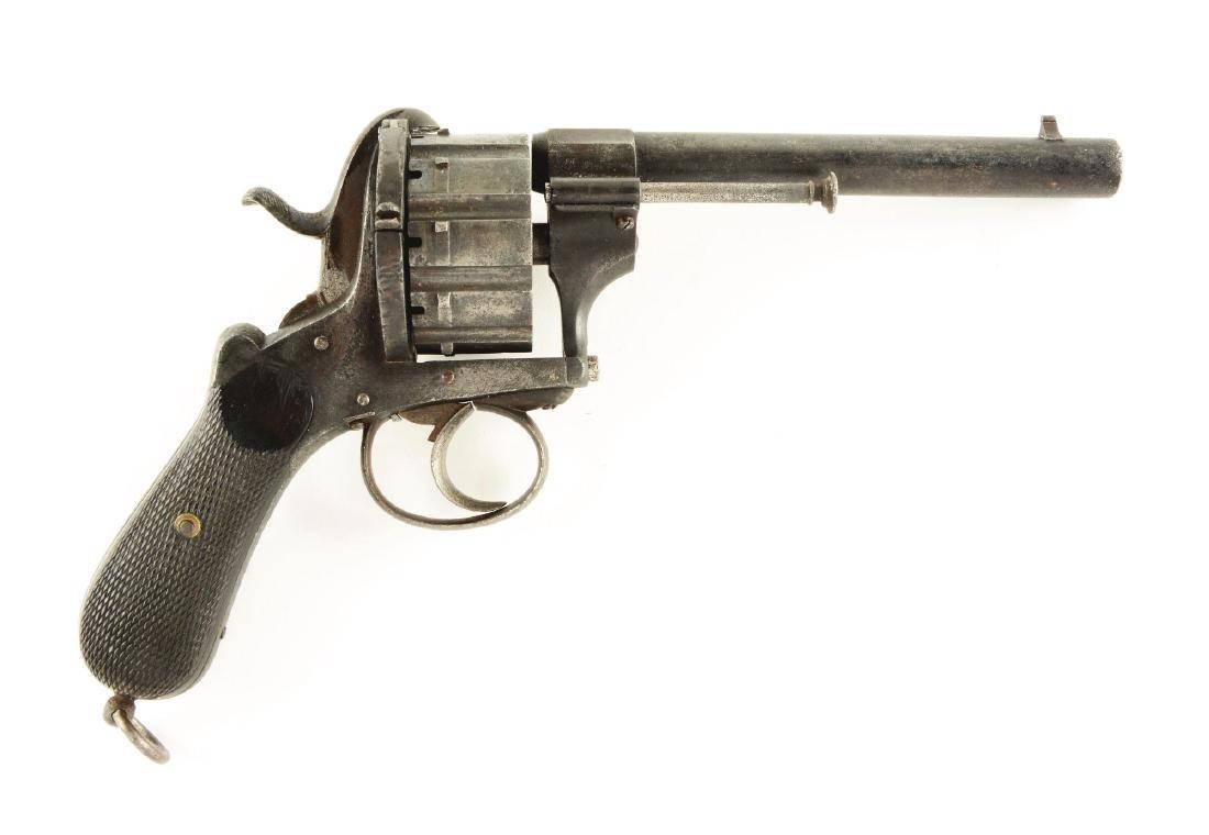 (A) Lefaucheux 10 Shot Pinfire Revolver.