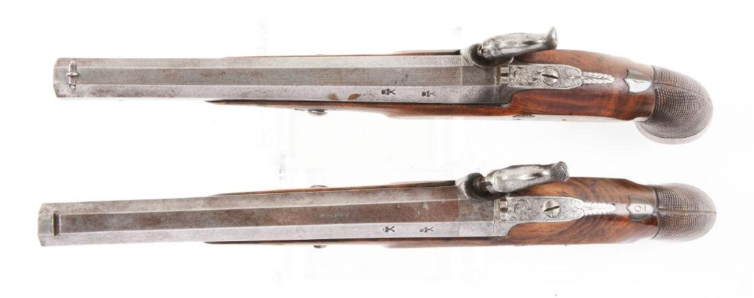 (A) Cased Pair of English Percussion Target Pistols by - 5