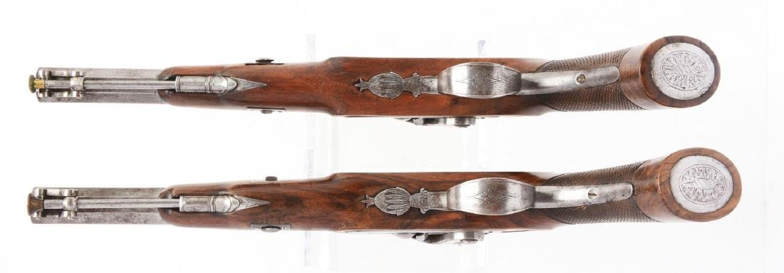 (A) Cased Pair of English Percussion Target Pistols by - 6