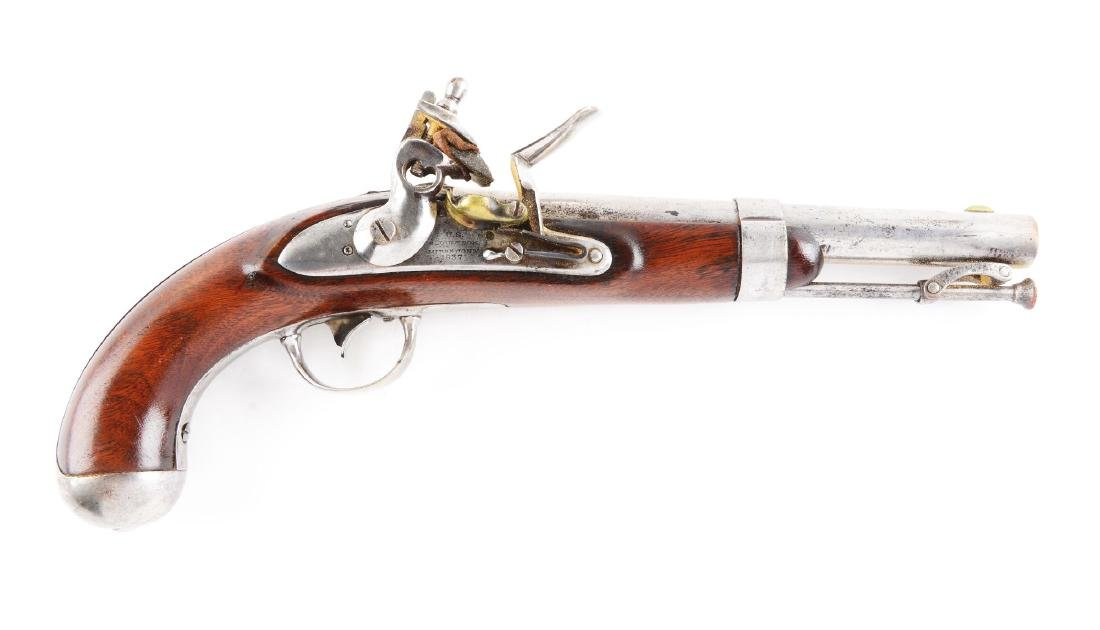 (A) U.S. Model 1836 Flintlock Martial Pistol by