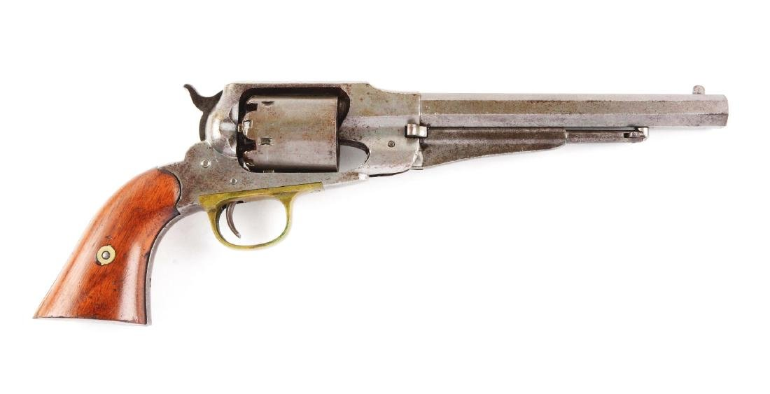 (A) U.S. Remington Model 1858 Army Percussion Revolver.
