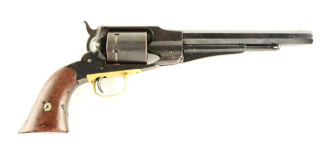 (A) Remington Model 1861 Cartridge Converted Revolver.