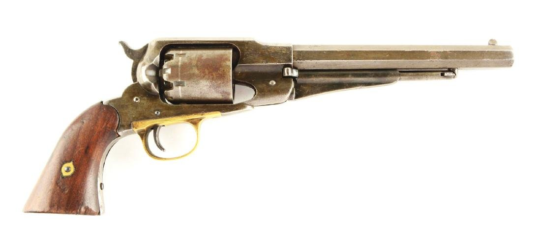 (A) Remington 1858 New Model Army Percussion Revolver