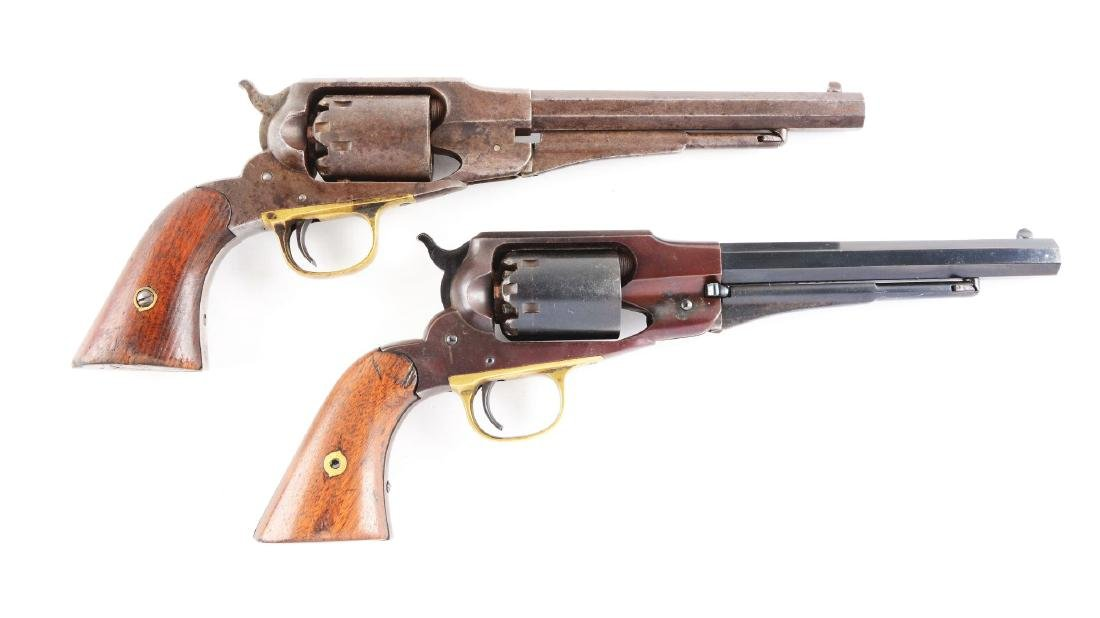 (A) Lot of 2: Remington New Model Navy Revolvers.