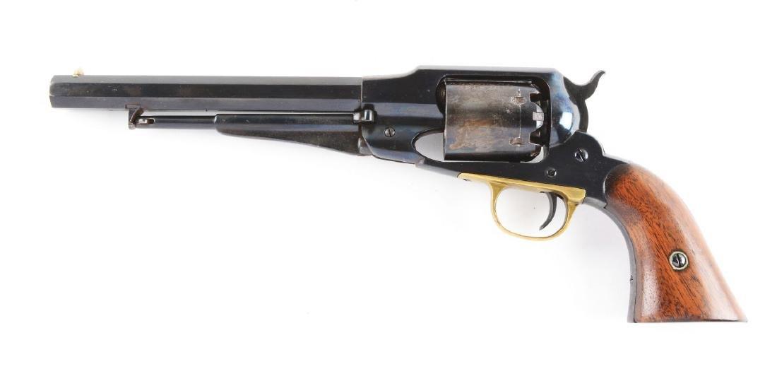 (A) Remington New Model Army 1858 Percussion Revolver. - 2