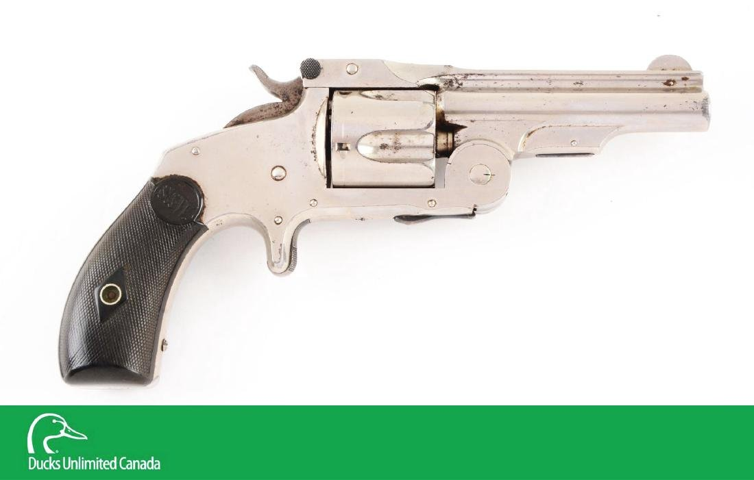 (A^) Nickel S&W 1st Model Single Action Revolver (Baby