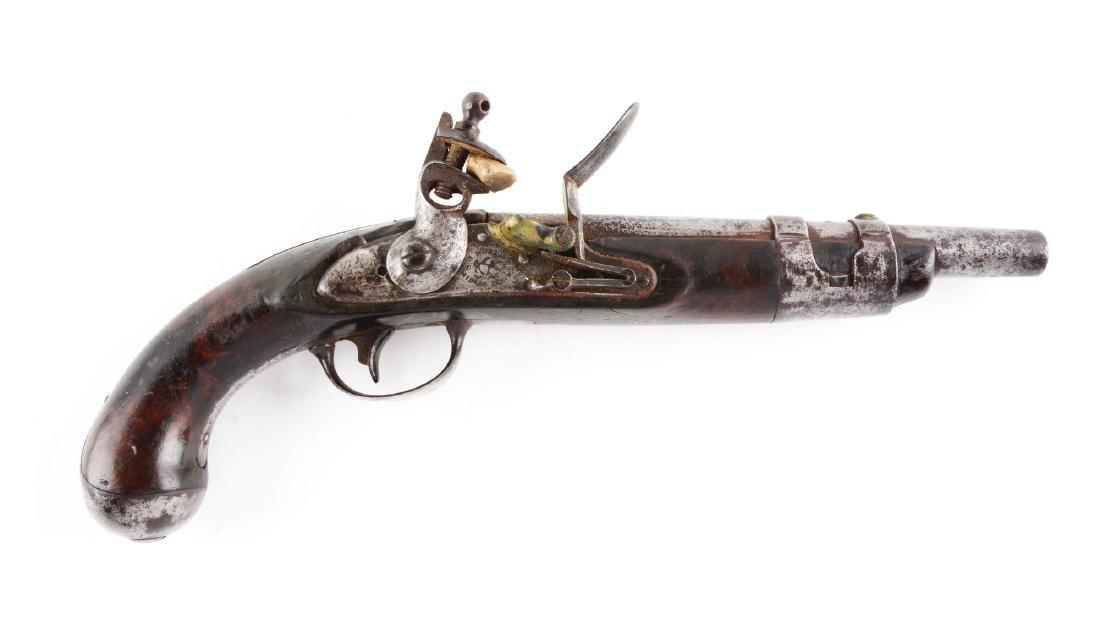 (A) U.S. Model 1816 Single Shot Flintlock Martial