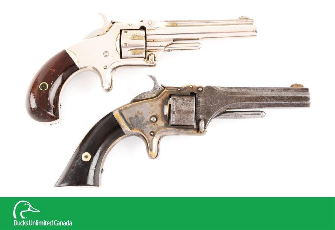 (A^) Lot of 2: S&W No. 1 Spur Trigger Revolvers.
